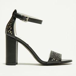 Sandales en Cuir Joey noires - Talon 9.5 cm - What For - Modalova