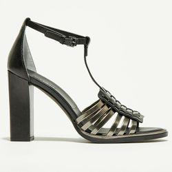 Sandales en Cuir Kaya noires - Talon 10 cm - What For - Modalova