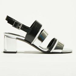 Sandales en Cuir Vera noires - Talon 6.5 cm - What For - Modalova