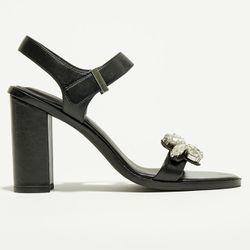 Sandales en Cuir Atanado noires - Talon 10 cm - What For - Modalova