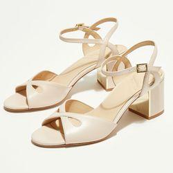 Sandales en Cuir Anne nude - Talon 7 cm - What For - Modalova