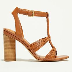 Sandales en Cuir Mary camel - Talon 11 cm - What For - Modalova