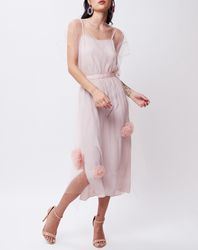 Robe Marie rose pâle - John Galliano - Modalova
