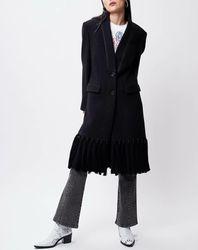 Manteau en Laine mélangée Katcha noir - John Galliano - Modalova