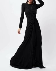 Robe Justine noire - John Galliano - Modalova