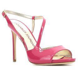 Sandales en Cuir Salma roses - Talon 10 cm - Charles jourdan - Modalova