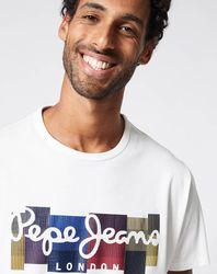 T-Shirt Logo 3D Patch blanc - Pepe Jeans - Modalova