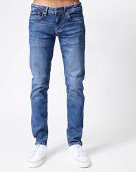 Jean slim Hatch Delavé Gfg bleu - Pepe Jeans - Modalova