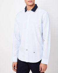 Chemise col polo contrasté blanche - Pepe Jeans - Modalova