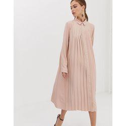 3ac1b77347c Robe chemise mi-longue plissée - ASOS DESIGN - Shopsquare