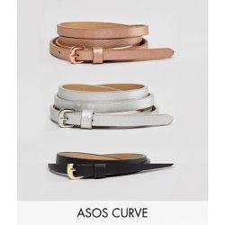 ASOS DESIGN Curve - Lot de 3 ceintures taille et hanches métallisées - ASOS  Curve - 529624aadfc