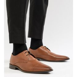 Chaussures derby en cuir à bout renforcé, pointure large - - Frank Wright - Shopsquare