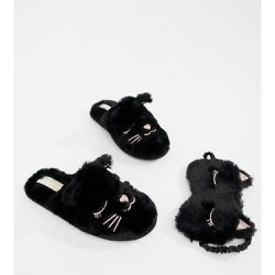 Head Over Heels - Figaro - Chaussons motif chat et masuqe yeux de chats - Head Over Heels by Dune - Shopsquare