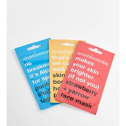 Exclusivité ASOS - Lot de 3 masques visage - Anatomicals - Shopsquare