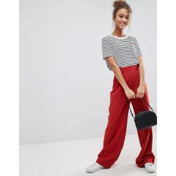 Pantalon large à pinces - Marron - ASOS DESIGN - Shopsquare