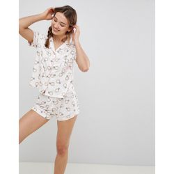 Ensemble de pyjama court motif alliance - Chelsea Peers - Shopsquare