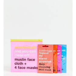 Exclusivité ASOS - And You Can Clear Off - Lingette visage en mousseline et 4 masques visage - Anatomicals - Shopsquare