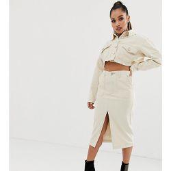 abb0313fdd Jupe mi-longue en jean (ensemble) - Écru - Missguided Petite - Shopsquare