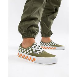 Exclusivité ASOS - Baskets authentiques à damier mélangé - Kaki et orange - Vans - Shopsquare