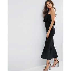 ASOS - Robe longue bandeau avec top à volants et basque - ASOS DESIGN - Shopsquare