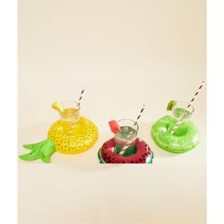 Lot de 3 porte-gobelets fruits gonflables - Multi - Big Mouth - Shopsquare