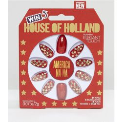 House of Holland Luxe by - Stiletto - Faux-ongles - Americana-Na - Elegant Touch - Shopsquare