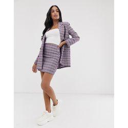 d2e6168a834e3f Mini-jupe de tailleur - Carreaux violets