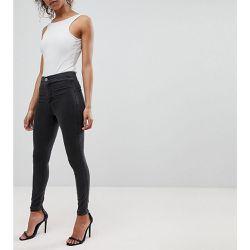 9b5bd9a8359bb ASOS DESIGN Petite - Rivington - Jegging taille haute en jean -délavé - ASOS  Petite