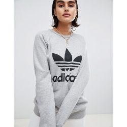 Sweat-shirt coupe boyfriend à motif trèfle - - adidas Originals - Shopsquare