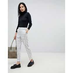 Ultimate - Pantalon cigarette slim à carreaux - Monochrome - ASOS DESIGN - Shopsquare