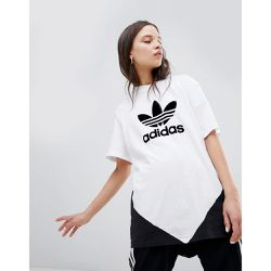 Colorado - T-shirt trèfle à empiècement - Blanc et - adidas Originals - Shopsquare