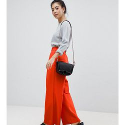 Pantalon large à pli fantaisie - Orange - ASOS Petite - Shopsquare