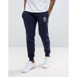 Pantalon de jogging ajusté - Bleu marine - Navy - Gym King - Shopsquare