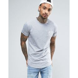 T-shirt moulant avec logo - Gris - Gym King - Shopsquare