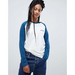 844c69a4d01de T-shirt de baseball décontracté à manches longues avec logo sur la poitrine  - Dickies