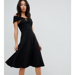 ASOS DESIGN Tall - Robe patineuse mi-longue avec encolure Bardot - ASOS Tall - Shopsquare