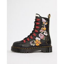 Nyberg - Grosses bottines plates brodées - Cuir - Dr Martens - Shopsquare