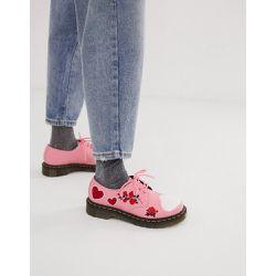 5d377b480d1 Chaussures plates en cuir avec broderies motif cœur - - Dr Martens -  Shopsquare