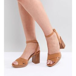 Sandales à talons rainurés - Faith Wide Fit - Shopsquare