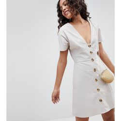 ASOS DESIGN Tall - Robe patineuse courte casual boutonnée - ASOS Tall - Shopsquare
