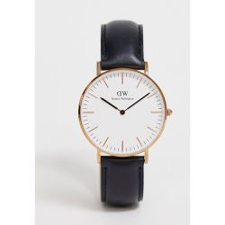 Sheffield - Grande montre classique à bordure or rose - - Daniel Wellington - Shopsquare