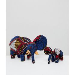Kenya - Lot de 2 ornements faits à la mains motif éléphant - ASOS MADE IN - Shopsquare