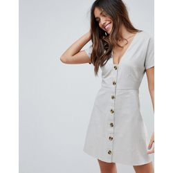 Robe patineuse courte casual boutonnée - ASOS DESIGN - Shopsquare