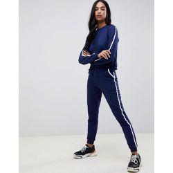 Joli survêtement avec sweat-shirt et pantalon de jogging basique avec lien  et attaches contrastantes dcdcdcbe5ce