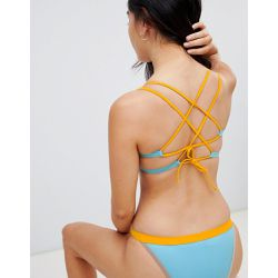 Mix & match - Haut de bikini court effet color block - Free Society - Shopsquare