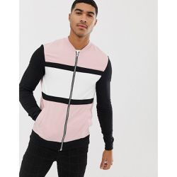Bomber moulant en jersey effet color block - - ASOS DESIGN - Shopsquare