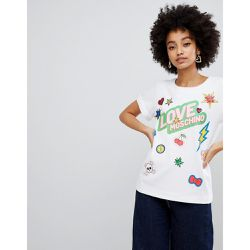 T-shirt à motif autocollants - Love Moschino - Shopsquare