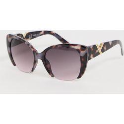 b1c2222343028 Lunettes de soleil yeux de chat effet écaille de tortue - River Island -  Shopsquare