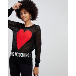 c8e9bc2b4ef Pull en paille avec logo cœur - Love Moschino - Shopsquare