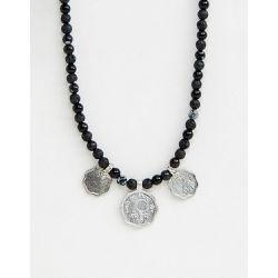 e977cc3caf063 Collier à perles avec pièces de monnaie et pierres semi-précieuses - ASOS  DESIGN -